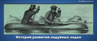 История развития надувной лодки