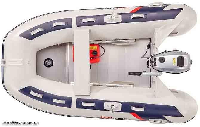Надувная лодка HonWave T25-AE вид сверху