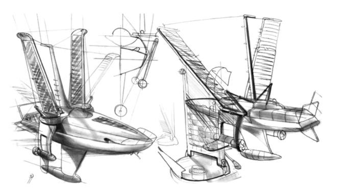 Volitan эскиз лодки